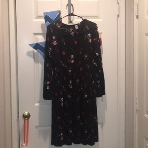 Old Navy black floral dress